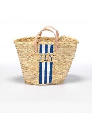 Five Stripe Monogram Basket