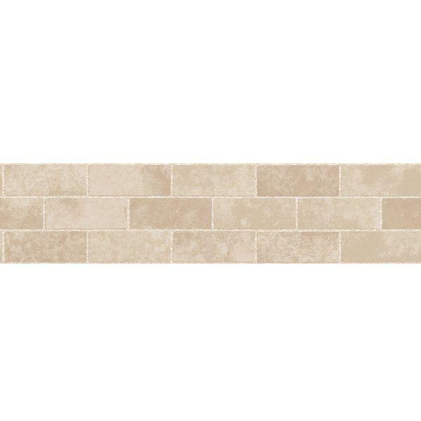 16 3 X 5 9 Stone Tile Peel And Stick Border Wallpaper Stone Tiles Peel And Stick Wallpaper Peel And Stick Tile