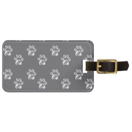 paws luggage tag - accessories accessory gift idea stylish unique custom