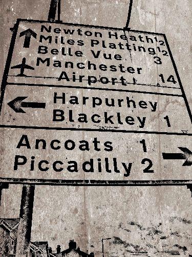 Street sign, Manchester