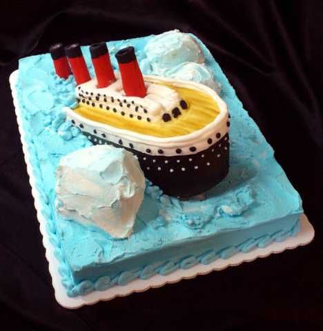 A collection of Titanic cakes