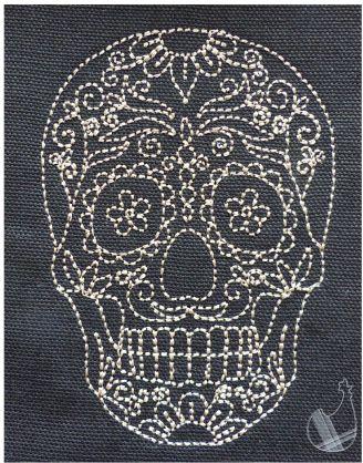 Crâne redwork - Le blog de lacocotteacarreaux