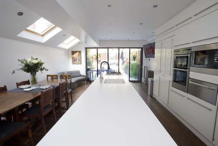Side return extension extensions pinterest rear for Kitchen ideas london