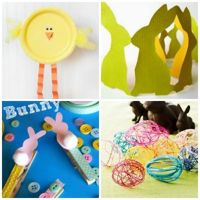 12 semplici lavoretti di Pasqua per bambini  Easter crafts for kids