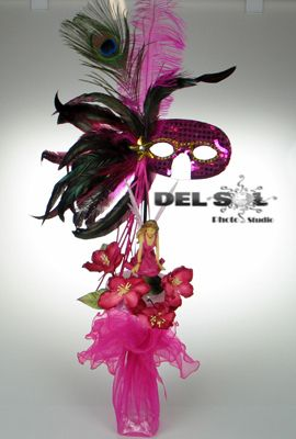 Sweet sixteen masquerade centerpieces and quinceanera on for Wholesale quinceanera craft supplies