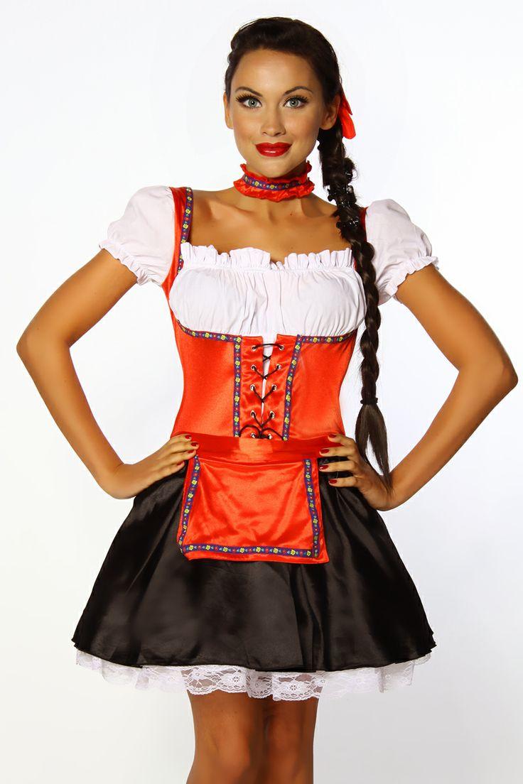 Beer Maid Sexy Green German Costume