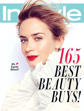 Fresh faced: Emily Blunt (InStyle Magazine, May 2013)