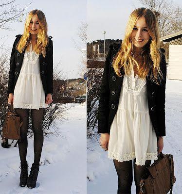Como usar vestido com meia calça no inverno? - VilaMulher