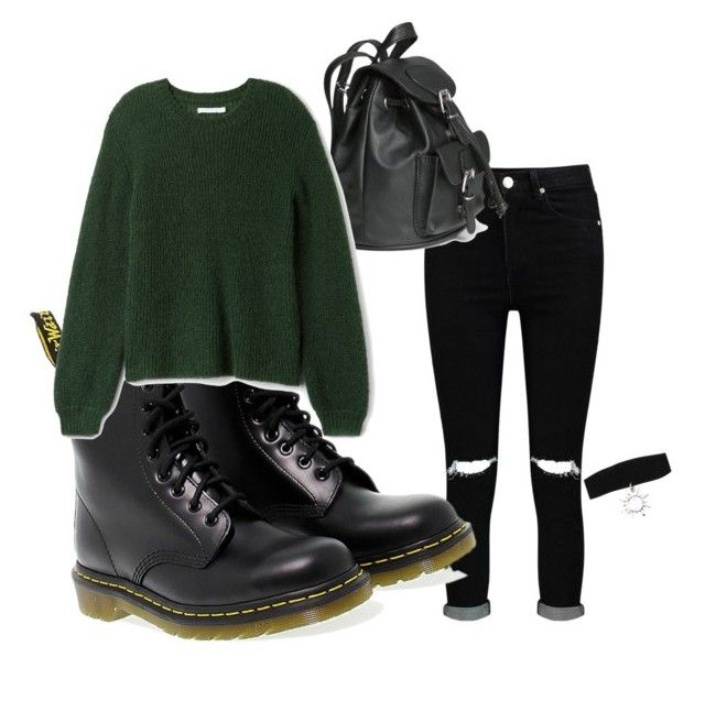 by tamas-erdos on Polyvore featuring polyvore Boohoo Dr. Martens H&M fashion style clothing