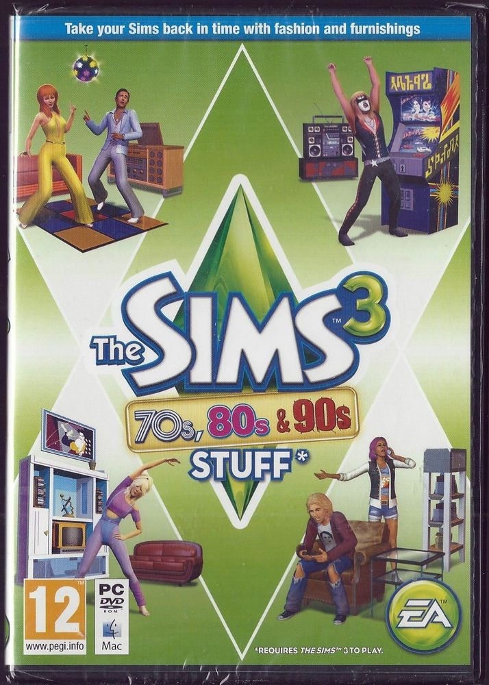 The Sims 3 70s 80s & 90s STUFF  (Expansion Pack) (PC/MAC)