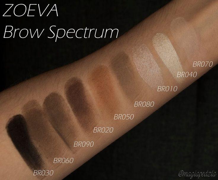 Zoeva brow spectrum swatche