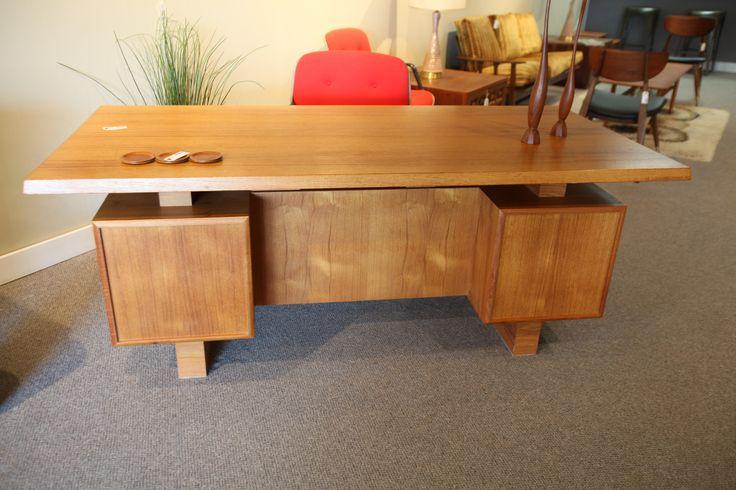 Teak Mid-Century Executive Desk Set