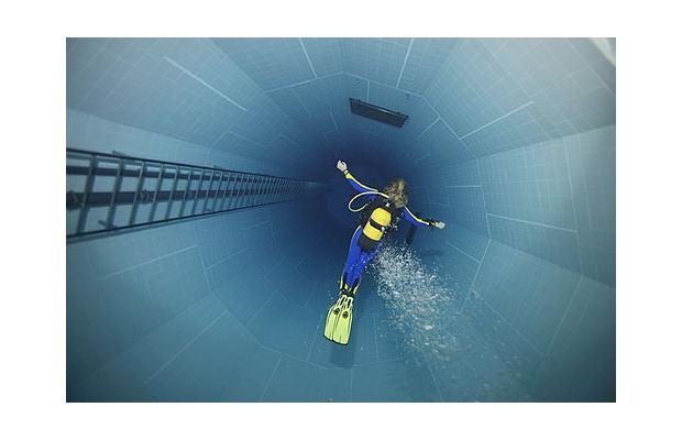 Nemo 33, Brussels At 34.5 metres in depth at its deep end, Nemo 33 is the world's deepest indoor swimming pool and one of the most popular diving facilities in the world.
