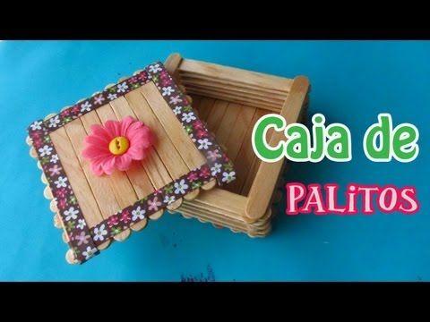▶ Caja de Palitos de Paleta// Manualidad para el día de las Madres - YouTube