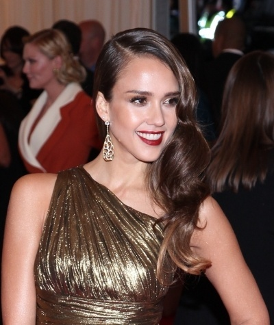 Jessica Alba old Hollywood waves