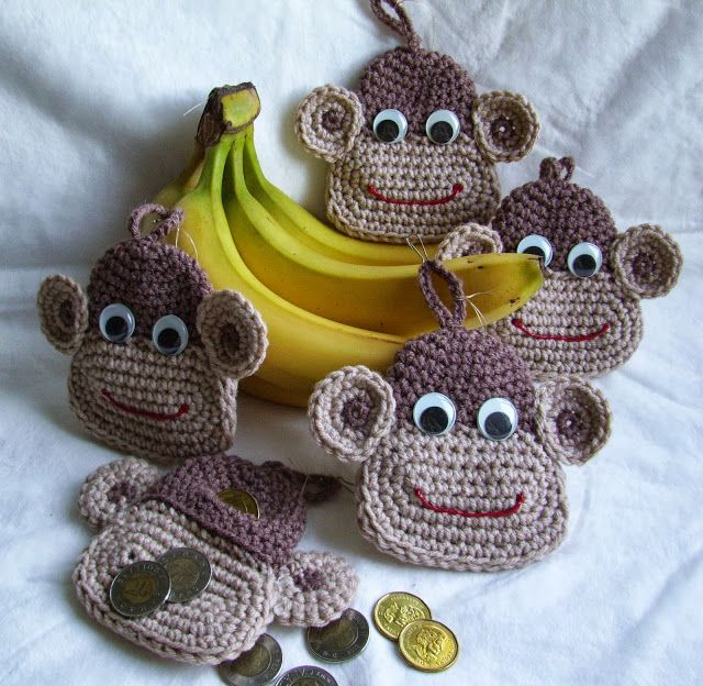 NO PATTERN FOR THIS MONKEY FACE... BUT YOU COULD PROBABLY SEE HOW TO MAKE IT....