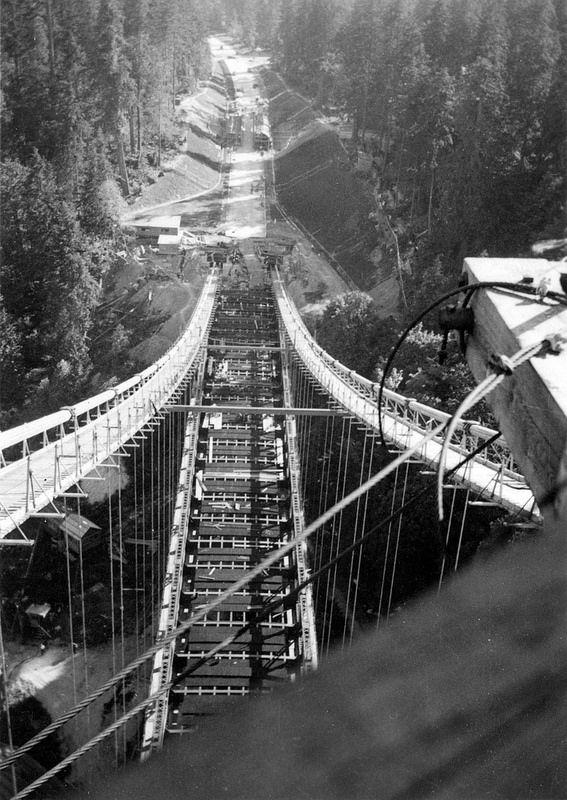 Construction, Lion's Gate Bridge 1938 Gordon, Audrey   by vancouverbyte