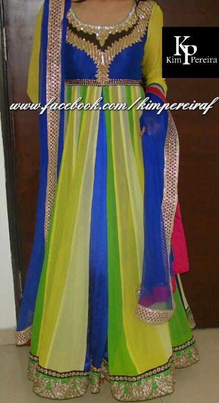 Colourful Anarkali Fusion Dress by KimPereiraF on Etsy, $400.00