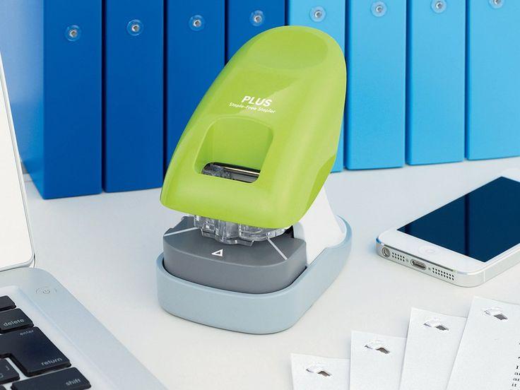 Paperclinch stapleless stapler by plus america stapler