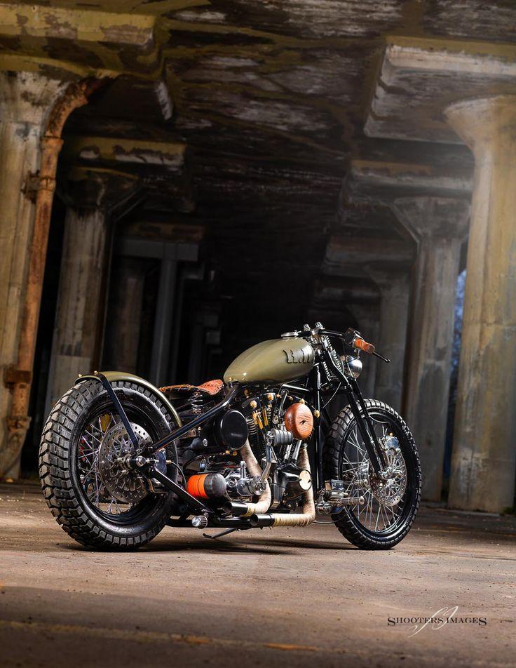 Harley Davidson Custom shovelhead bobber chopper #FollowForFollow #Follow4Follow #FollowBack