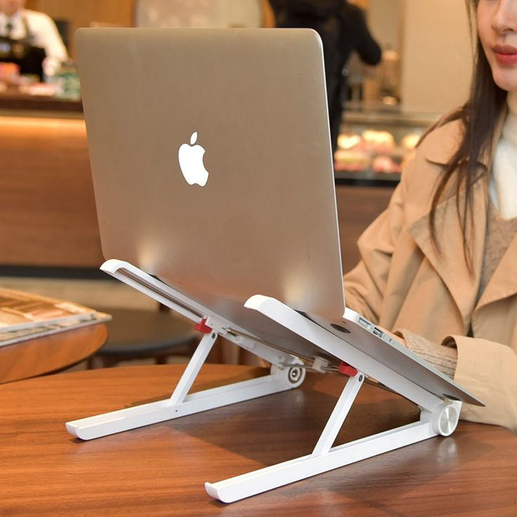 2019 Wholesale Office Gadgets Portable Adjustable Ergonomic Laptop Holder Riser Foldable Laptop Cooling Stand Buy Laptop Holder Portable Laptop Holder Foldabl