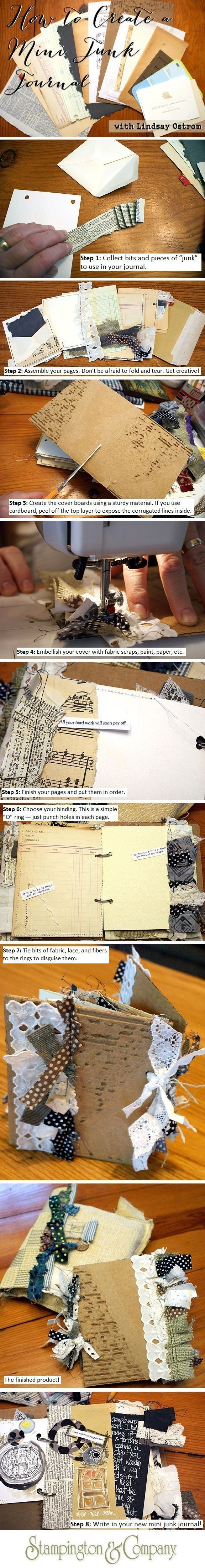 Join guest artist @lindsayostrom [On the Blog] to learn how to create a mini junk journal! Click the pic for Lindsay's step-by-step DIY tutorial.
