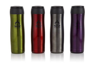 Our stylish travel tea tumbler is now available in four colors.