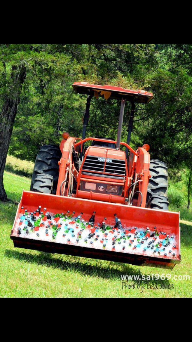 tractor full of beer, yes please