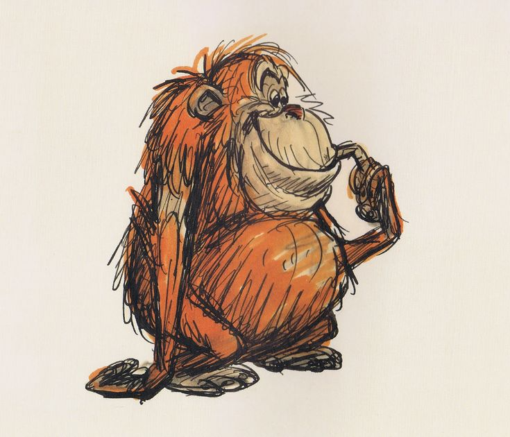 Character sketch of cute orangutan - Deja View