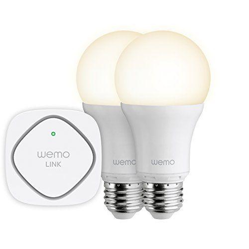 Belkin – Bundle WeMo LED Smart Light – 2 Ampoules LED Smart Light (à Vis) + Plug ZigBee – Compatible Tablettes Tactiles et Smartphones…