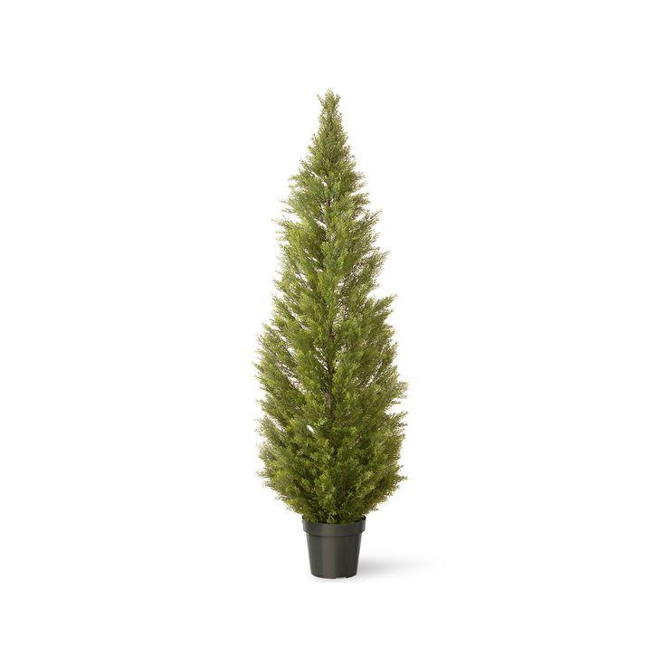 "National Tree Company 72"" Artificial Arborvitae Tree, Green"