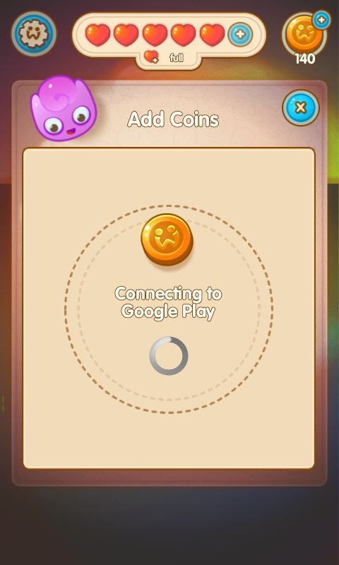 Jelly Splash by Wooga - Shop Connecting  - Match 3 Game - iOS Game - Android Game - UI - Game Interface - Game HUD - Game Art