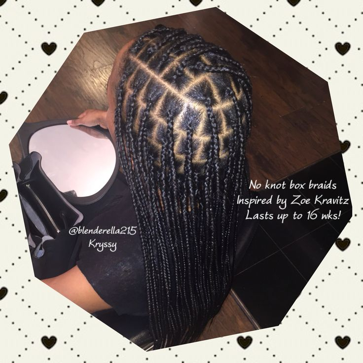 No knot waist length box braids inspired by Zoe Kravitz! Great protective m style! Lasts up to 16 wks!  For pricing and appointments email me @ thekryssyhair@yahoo.com follow my new ig @kryssyville