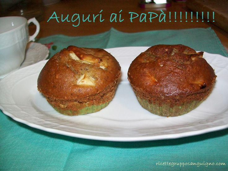 Muffin senza lievito, senza glutine, senza latte ...per la festa del papà