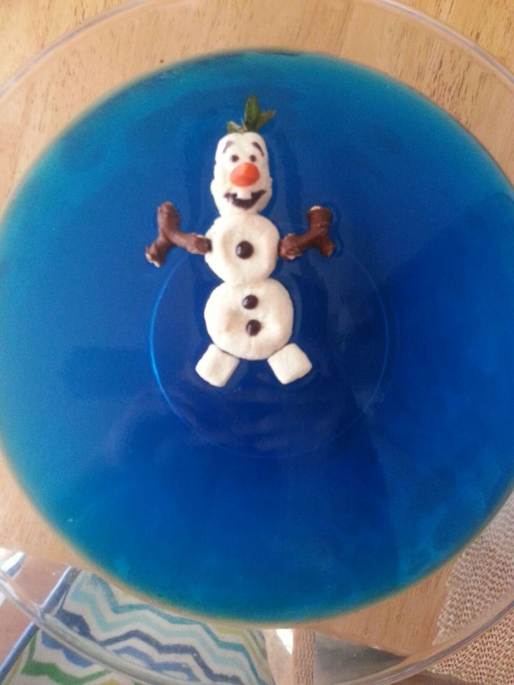 Olaf Jello Bowl Frozen Theme Party #OlafJelloBowl
