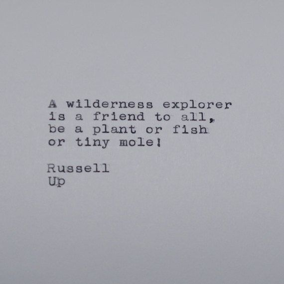 Pixar's Up Quote Typed on Typewriter by #LettersWithImpact