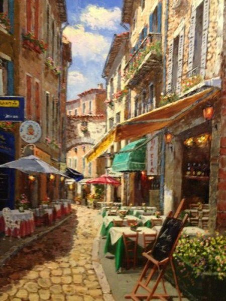 """Original Painting """"Afternoon in Agada"""" by Sam Park"""