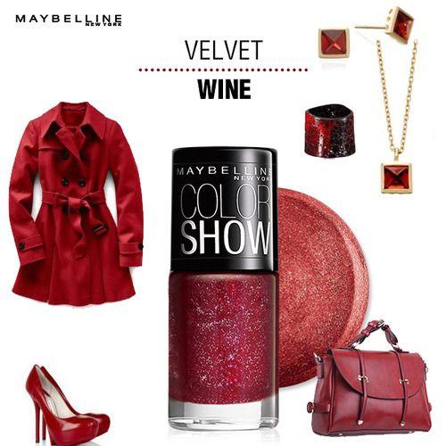 InstaGlam: Velvet Wine Nail Color @Maybelline New York India #InstaTips