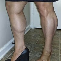 Large calf muscle photo
