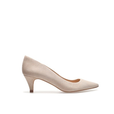 zara 2.16in LEATHER COURT SHOE