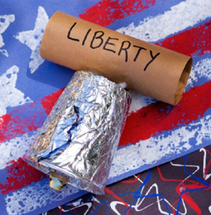 Liberty Bell Craft for American Symbols!  Maybe a craft for presidential bday party coming up!