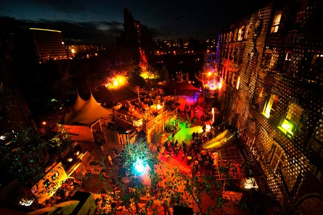 Berlin club, Kater Holzig by night, Berlin. #travel #night #summer #colourful