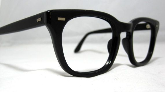 Vintage EyeGlasses Mens USS Frames. Black by CollectableSpectacle, $85.00