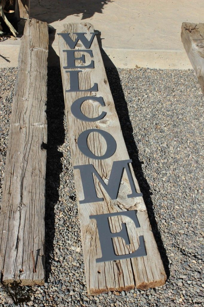 HUGE Front Porch Welcome Sign - The Wood Grain Cottage