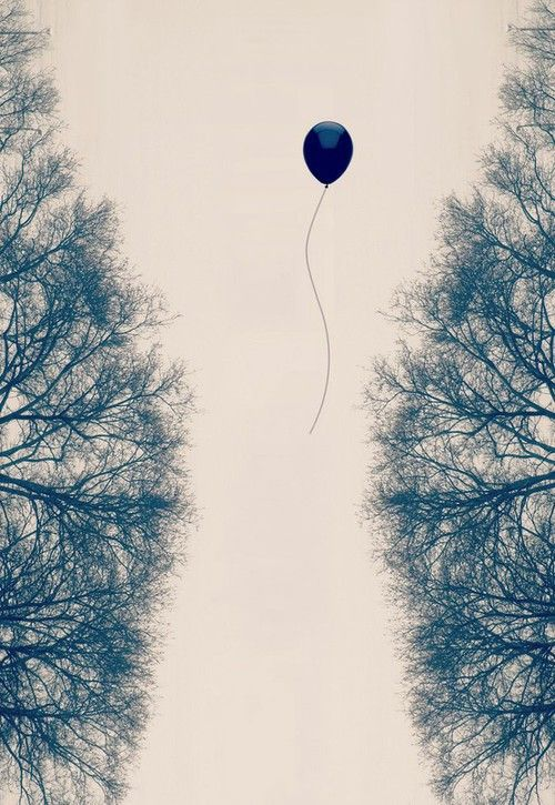 Lone balloon, photography, sky.. into nowhere.. uninvited