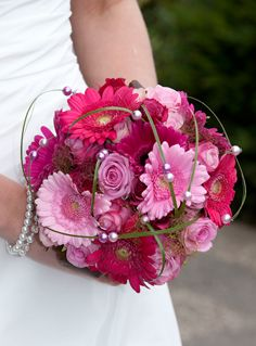 Pink, roze. Trouwboeket. Wedding.