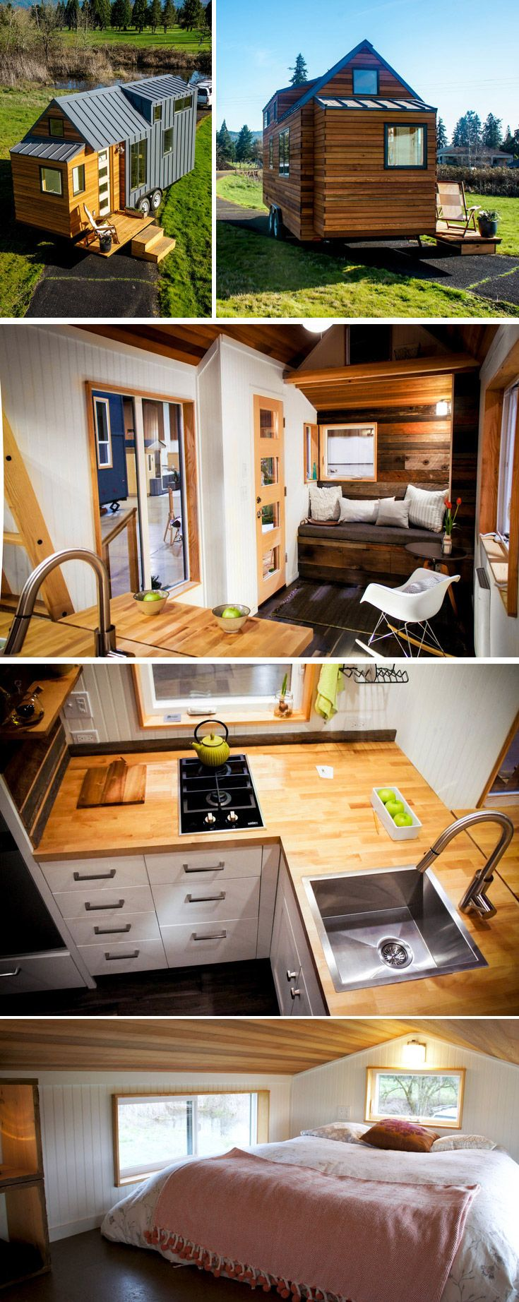 The Kootenay has a large loft, a drop down deck, a peninsula with extension leaf in the kitchen, 5′ bathroom, and an optional bump out nook.