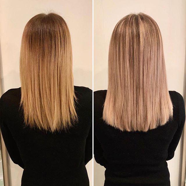 Vorhernachher Wegvomombre Wegvombalayage Haarverdichtung Haarverdichtungerfurt Extensions Hairextensions Longbob L Hair Styles Beauty Long Hair Styles