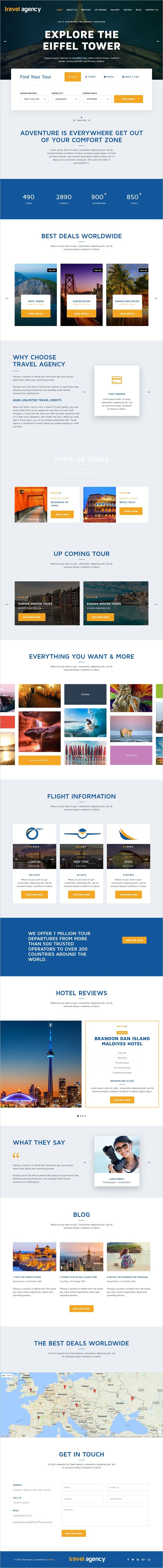 Travel Agency is one of the best #bootstrap HTML template for #travel, hotel, car #rental, flight, cruise and tour booking services website download now➩ https://themeforest.net/item/travel-agency-tour-travel-hotel-booking-html-template/18870743?ref=Datasata