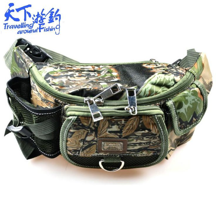 [Visit to Buy] 30*9*14cm Fishing Bag Multifunctional Fishing Tackle Pack Bag Waterproof Canvas Waist Pack Bolsa Para Pesca Fishing Lure Bag #Advertisement